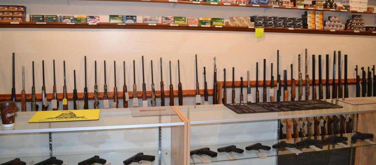 The front counter at Shawsheen Firearms & Gunsmithing in Billerica, MA